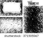 grunge frame texture set  ... | Shutterstock .eps vector #371505067
