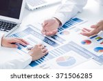 business people discussing the... | Shutterstock . vector #371506285