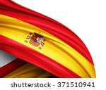 spain  flag of silk with... | Shutterstock . vector #371510941