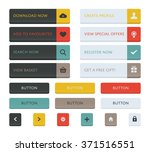 web buttons and icons set  uk... | Shutterstock .eps vector #371516551
