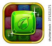 fancy app icon with green...