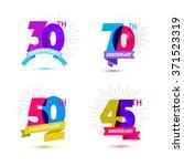 vector set of anniversary... | Shutterstock .eps vector #371523319