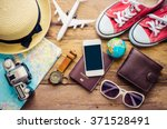 travel accessories and costume... | Shutterstock . vector #371528491
