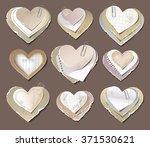 old torn paper hearts | Shutterstock .eps vector #371530621