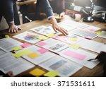 business people meeting design... | Shutterstock . vector #371531611