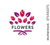 flowers logo vector. flower... | Shutterstock .eps vector #371532271
