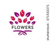 flowers logo vector. flower...   Shutterstock .eps vector #371532271
