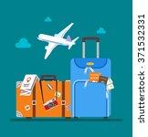 travel concept vector... | Shutterstock .eps vector #371532331