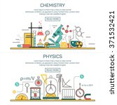 science banner vector concepts... | Shutterstock .eps vector #371532421
