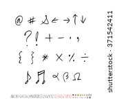 alphabet   number   handwriting ... | Shutterstock .eps vector #371542411