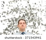 a young man in a tie on a white ...   Shutterstock . vector #371543941