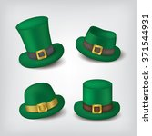 st.patrick's hat icons | Shutterstock .eps vector #371544931