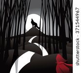 little red riding hood fairy... | Shutterstock .eps vector #371544967