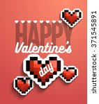 valentines day creative unusual ... | Shutterstock .eps vector #371545891