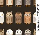 vector owl pattern. barn owl ...