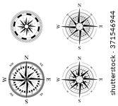 set of compass navigation dials ... | Shutterstock .eps vector #371546944