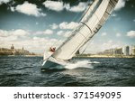 Постер, плакат: Sailing yachts regatta