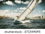 . sailing yachts regatta. ... | Shutterstock . vector #371549095