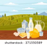 dairy product milk vector icon... | Shutterstock .eps vector #371550589