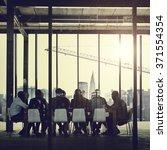 group of multiethnic people... | Shutterstock . vector #371554354