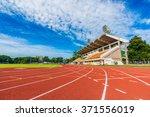 athletics stadium with the... | Shutterstock . vector #371556019