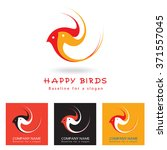 two happy birds  vector image ... | Shutterstock .eps vector #371557045