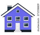 blue scandinavian condominium   ...   Shutterstock .eps vector #371558809