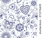 seamless pattern of hearts as... | Shutterstock .eps vector #371576635