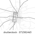 map of streets   vector city | Shutterstock .eps vector #371581465
