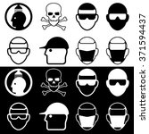 head and safety. black and... | Shutterstock .eps vector #371594437
