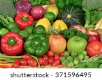 nutritious fresh fruit and... | Shutterstock . vector #371596495