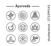 ayurveda vector illustration... | Shutterstock .eps vector #371599141