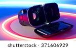 virtual reality smart phone...   Shutterstock . vector #371606929