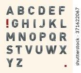 vector bended font   latin... | Shutterstock .eps vector #371622067