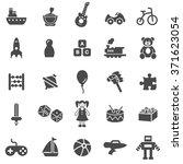 toys black icons set.vector. | Shutterstock .eps vector #371623054