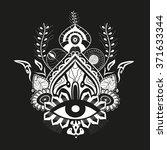 eye queen illustration design | Shutterstock .eps vector #371633344