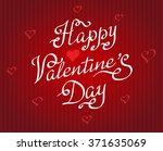 happy valentine's day vintage... | Shutterstock .eps vector #371635069