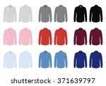 men's button down dress shirt... | Shutterstock .eps vector #371639797
