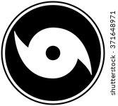 hurricane watch symbol | Shutterstock .eps vector #371648971