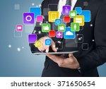 media. | Shutterstock . vector #371650654