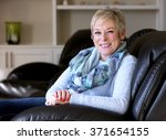 caucasian middle aged woman... | Shutterstock . vector #371654155