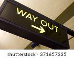 way out sign with arrow | Shutterstock . vector #371657335