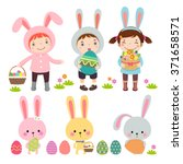 vector set of characters and... | Shutterstock .eps vector #371658571