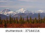 snow mountain in denali | Shutterstock . vector #37166116