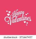 happy valentines logo | Shutterstock .eps vector #371667457
