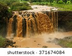waterfall on the blue nile... | Shutterstock . vector #371674084