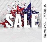 presidents day sale. letters... | Shutterstock .eps vector #371680315