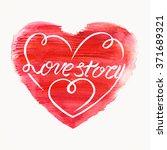 "calligraphic lettering ""love... | Shutterstock . vector #371689321"