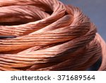 closeup of copper wire  concept ... | Shutterstock . vector #371689564