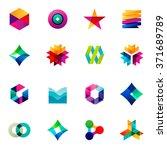 big set of modern icon design... | Shutterstock .eps vector #371689789